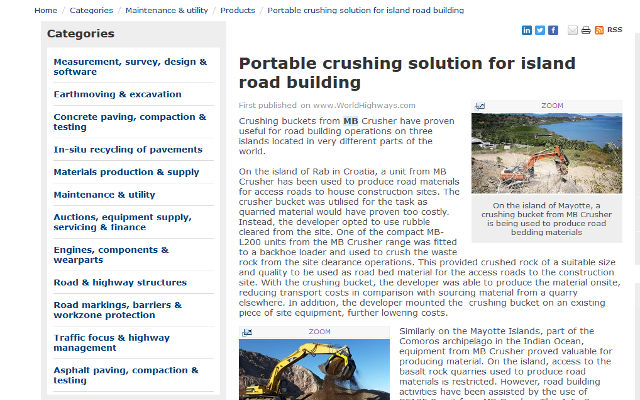 Portable crushing solution for island road building