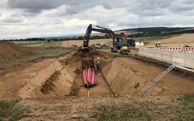 The MB-HDS320 shafts screener at work in Germany for the Wahle-Mecklar project.