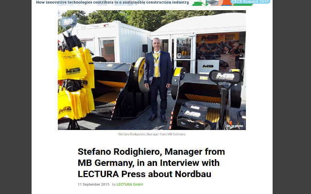 Stefano Rodighiero, Manager from MB Germany, in an Interview with LECTURA Press about Nordbau