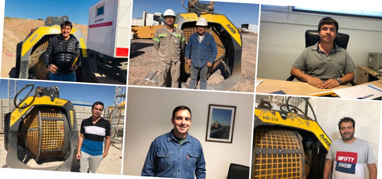 I clienti che hanno scelto MB Crusher nel loro cantiere per la construzione del gasdotto Vaca Muerta.