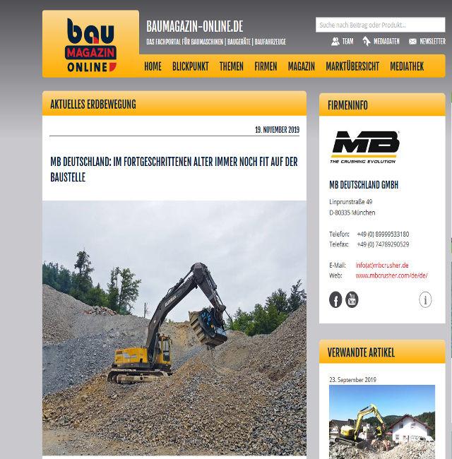 MB Deutschland: Im fortgeschrittenen Alter immer noch fit auf der Baustelle