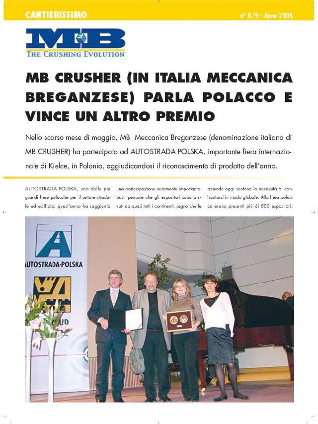 MB Crusher (in Italia Meccanica Breganzese) parla polacco e vince un altro premio