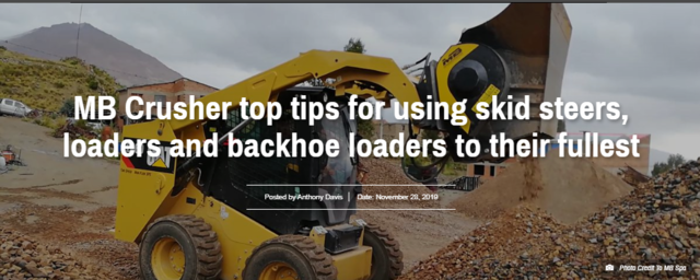 MB Crusher top tips for using skid steers, loaders, and backhoe loaders to their fullest