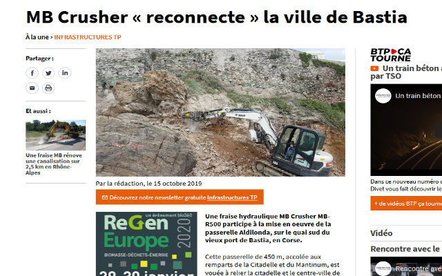MB Crusher « reconnecte » la ville de Bastia