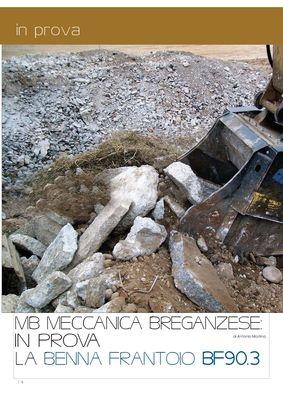 MB Meccanica Breganzese in prova la benna frantoio BF90.3