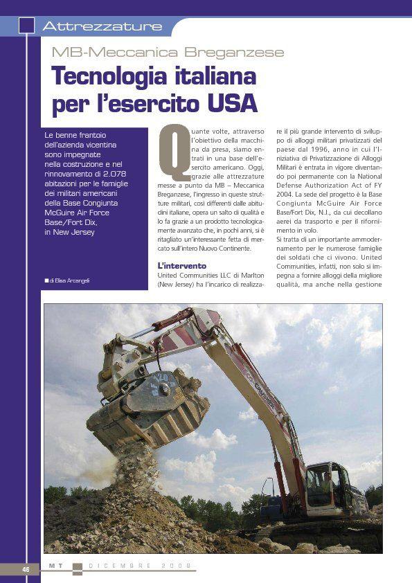 Tecnologia italiana per l'esercito USA