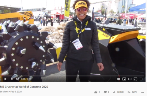 MB Crusher at World of Concrete 2020