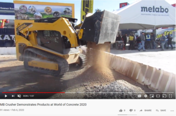 MB Crusher Demonstrates Products at World of Concrete 2020