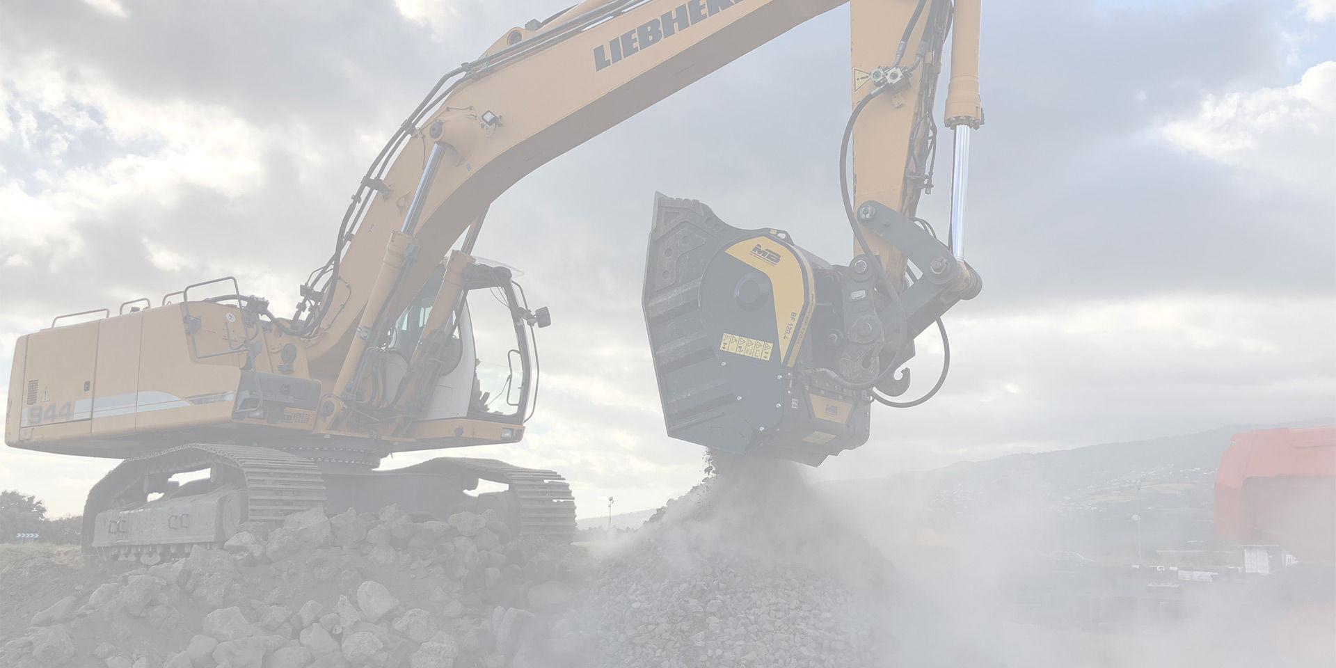 Trasforma il tuo escavatore in un vero frantoio.