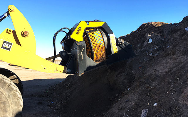 The MB-LS170 screening soil and waste material.