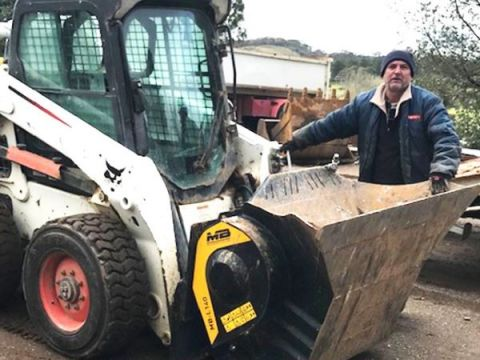 The choice of an MB Crusher bucket was an easy one for the family business