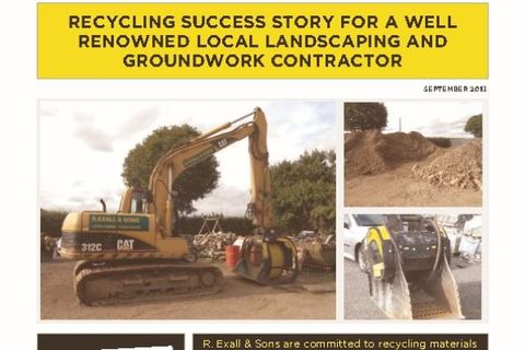 """"""" We bought the Screening and Crushing Buckets as we are extremely impressed at their versatility and they are ideal for a wide range of our projects, helping us to save money, recycle materials and be more flexible."""""""