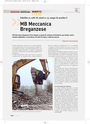 DOSSIER: Especial SMOPYC 2008 - MB Meccanica Breganzese