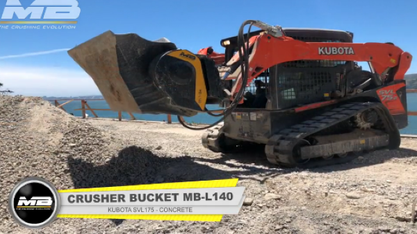 WITH AN MB CRUSHER BUCKET, WE OVERCOME LOGISTICAL CONCERNS.