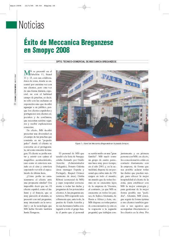 Éxito de Meccanica Breganzese en Smopyc 2008