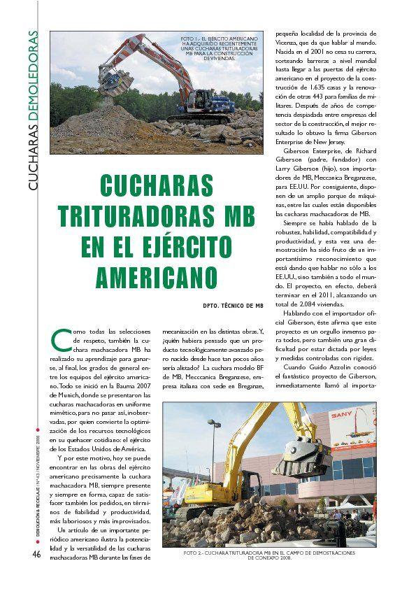CUCHARAS TRITURADORAS MB EN EL EJÉRCITO AMERICANO