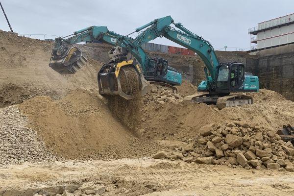 travaux d'excavation et de terrassement des nouveaux bâtiments de la Communauté européenne
