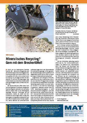 Mineralisches Recycling? Gern mit dem Brecherlöffel!