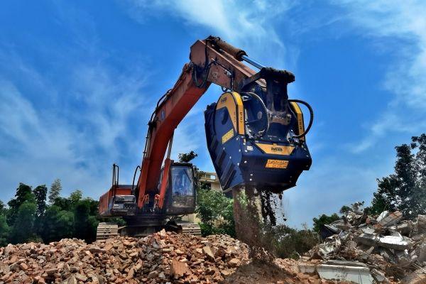 BF90.3, atividades de reciclagem de material de demolição