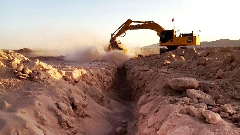 La benna vagliatrice MB Crusher vaglia sabbia e sassi in Cile