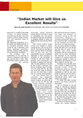 Indian Market will Give us Excellent Results