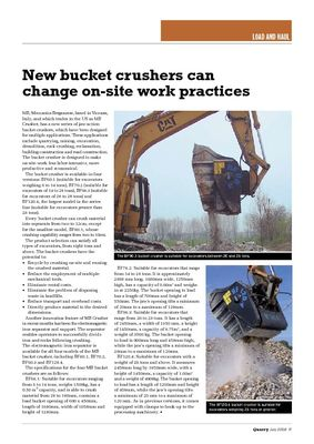 New bucket crushers can change on-site work practices