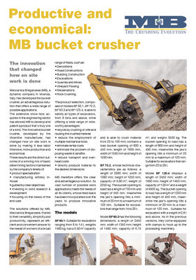 Productive and economical: MB bucket crusher