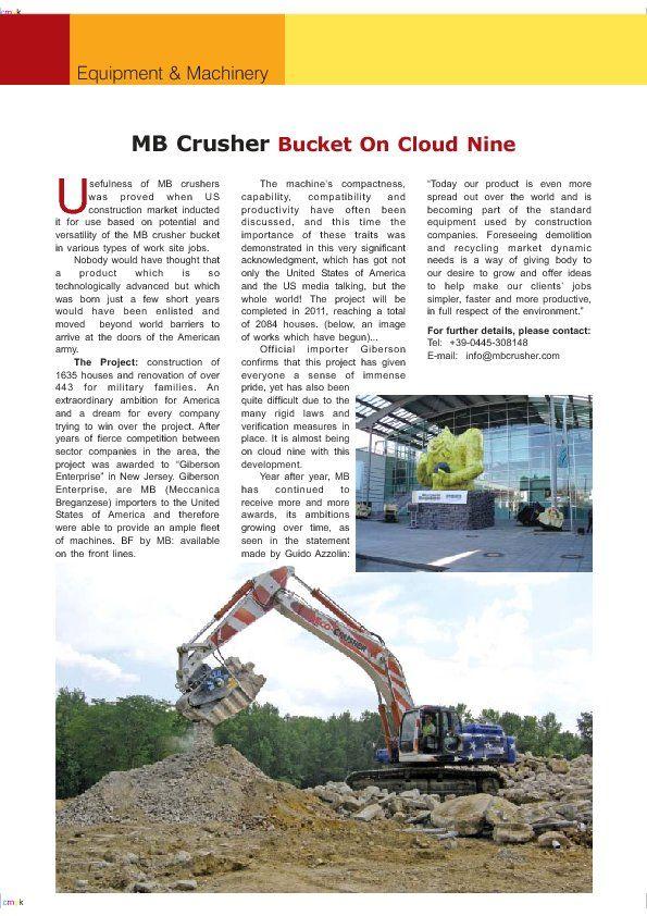 MB Crusher Bucket On Cloud Nine