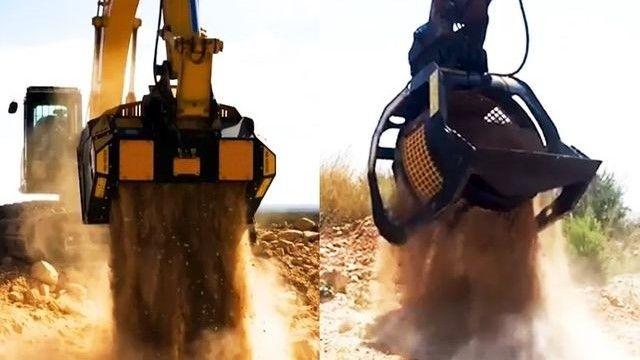 Caçamba peneira MB Crusher reduz tempo de trituração dos materiais em até 60%